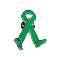 Green Ribbon Walk Run Lapel Pin