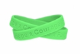 """Hope Courage Faith"" Lime Green Rubber Wristband - Adult 8"""