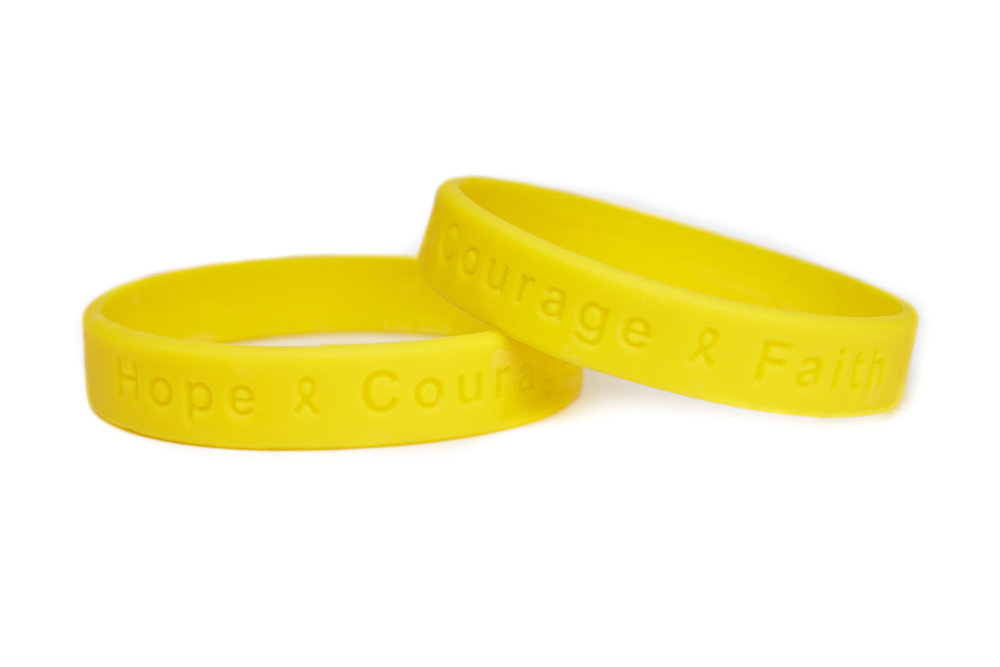 hope courage faith yellow bracelet support our troops wristband liver cancer awareness bracelet parkinsons disease awareness - Support Our Troops Silicone Bracelet