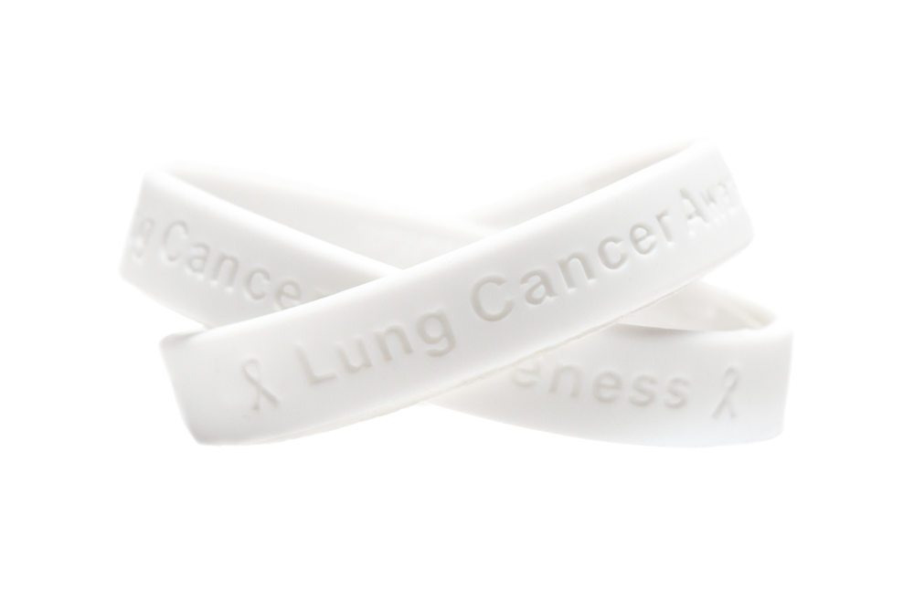 Lung Cancer Awareness Wristband White Awarness Bracelet Ociation