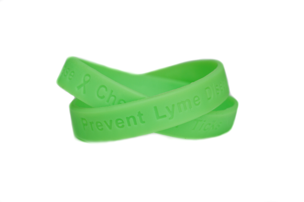 Lyme Disease Check For Ticks Lime Green Rubber Bracelet Wristband Lymes Fight The Bite