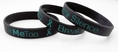 #METOO Break the Silence End Sexual Violence Rubber Wristband - Adult 8""