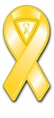"Mini Yellow Ribbon Car Magnet - 2"" x 4"""