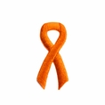 Orange Ribbon Embroidered Stick-ons - 25-pack