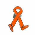 Orange Ribbon Walk Lapel Pin