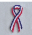 Patriotic USA Ribbon Embroidered Stick-ons - 25-pack