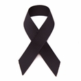 Peel & stick black grosgrain awareness ribbons - 10 pack