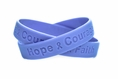 Periwinkle Hope Courage Faith Rubber Wristband - Youth 7""