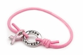 Pink Awareness Stretch Charm Bracelet