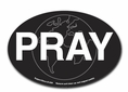 Pray Oval Magnet