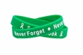 Sandy Hook - Never Forget - Never Again Rubber Wristband - Adult 8""