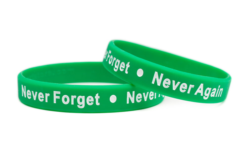 Sandy Hook Rubber Bracelet Wristband Newtown School Never Forget Again