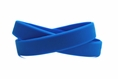 Solid color blue - blank rubber wristband - Adult 8""
