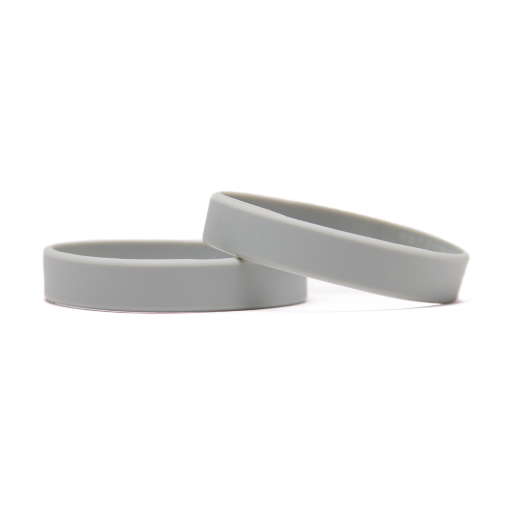 Solid Color Grey Blank Rubber Wristband 8