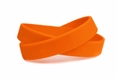 Solid color orange - blank rubber wristband - Adult 8""