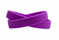 Solid color purple - blank rubber wristband - Adult 8""