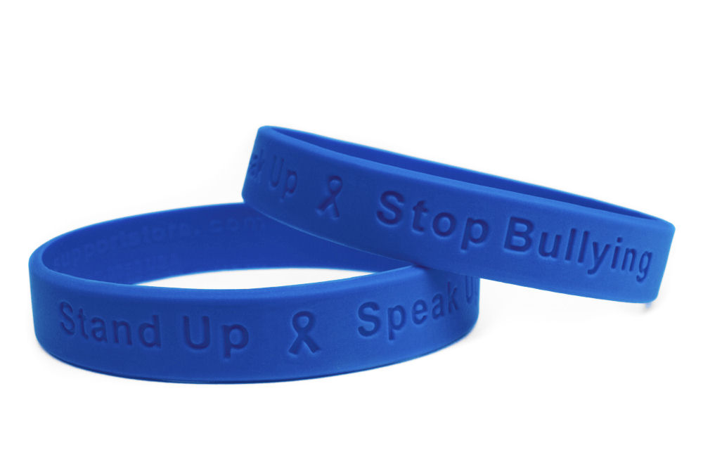 stop large and to color with collections silhsa up filled help stand debossed awareness silicone bracelet pdg anti wristbands raise bullying