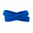 Stop Child Abuse blue wristband - Adult 8""