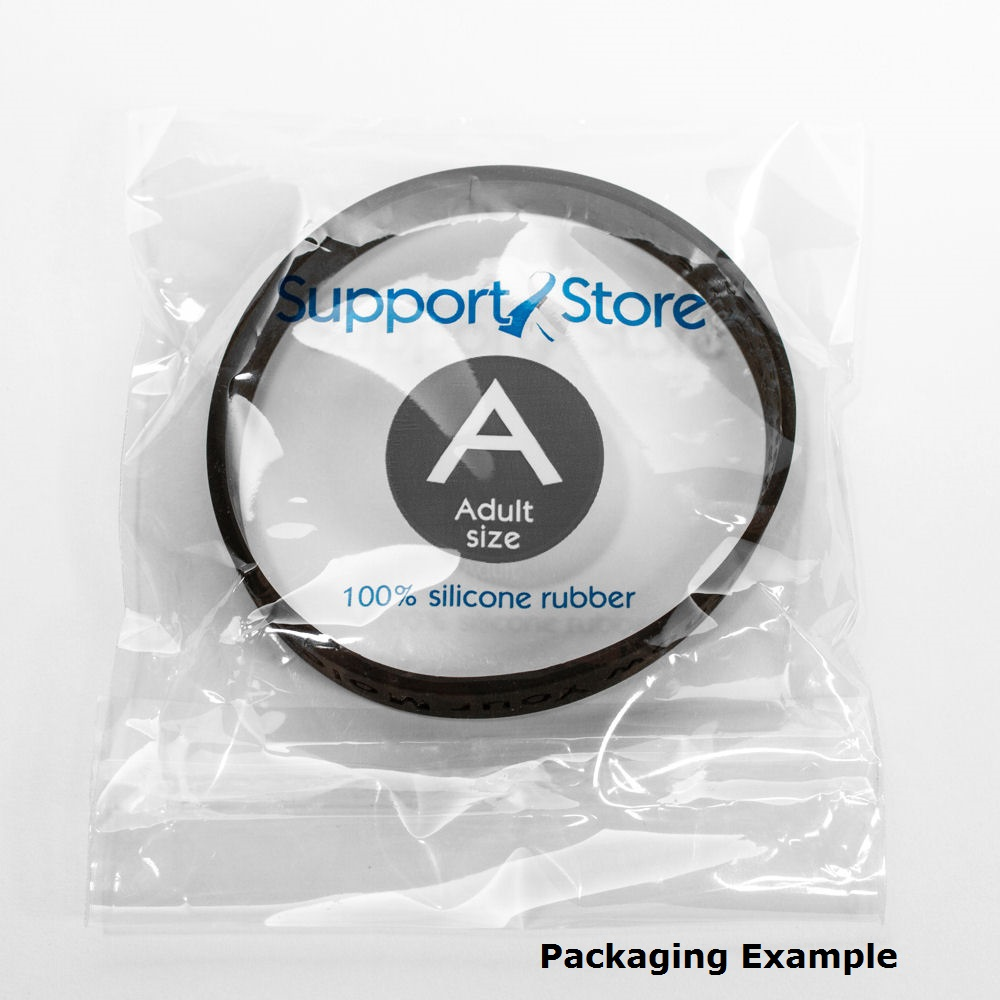 Support ALS Awareness red wristband - Adult 8