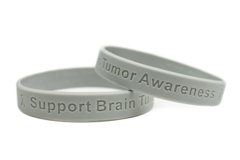 Support Brain Tumor Awareness Grey Wristband 8