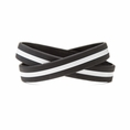 Support EMS EMT Wristband Black w. White Line - Adult 8""