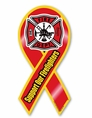 Support Firefighters Ribbon Car Magnet
