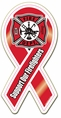 Support Firefighters Ribbon Decal