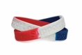"""Support our Troops"" Red, White & Blue Rubber Wristband – Adult 8"""