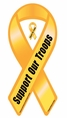 Support Our Troops Ribbon Car Magnet - Bold Font
