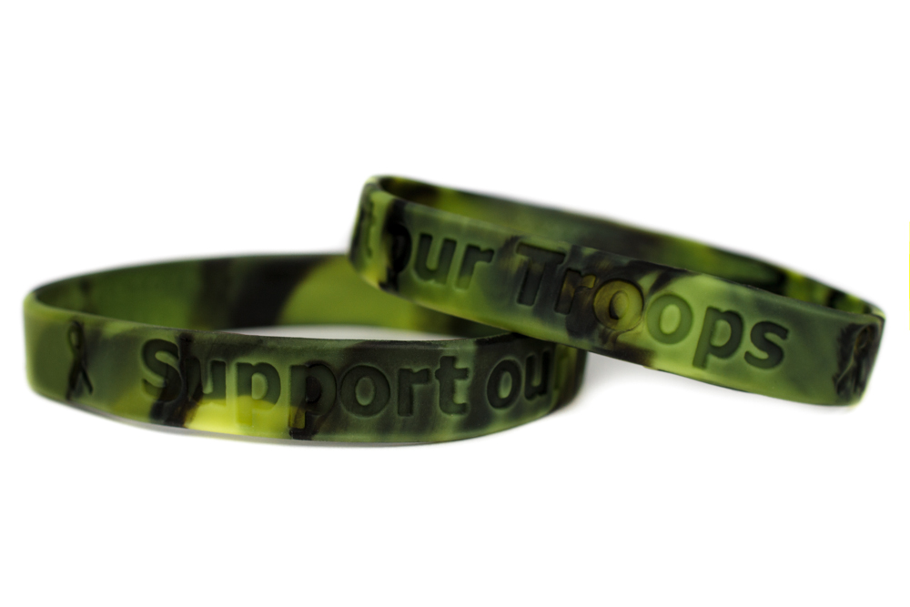 Support Our Troops Bracelet Military Wristband
