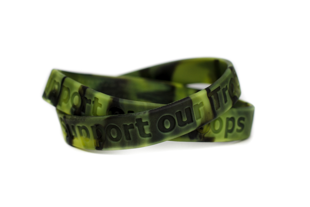Support Our Troops Bracelet Military Wristband Patriotic