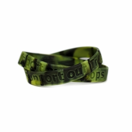 Novel Merk Support Our Troops Desert Camouflage /& Yellow Silicone Rubber Band Wristband Bracelet Accessory