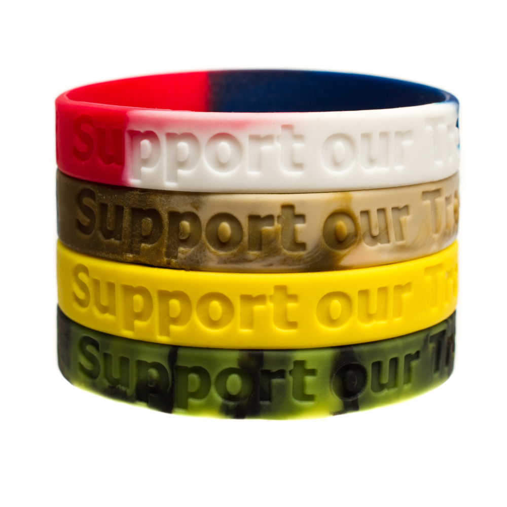 Support Our Troops Ribbon Magnets Yellow Magnet Magnetic American Flag Military Ribbons