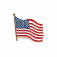 American USA Flag Wavy Lapel Pin