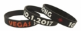 Vegas Strong 10.1.2017 Memorial Rubber Wristband - Adult 8""