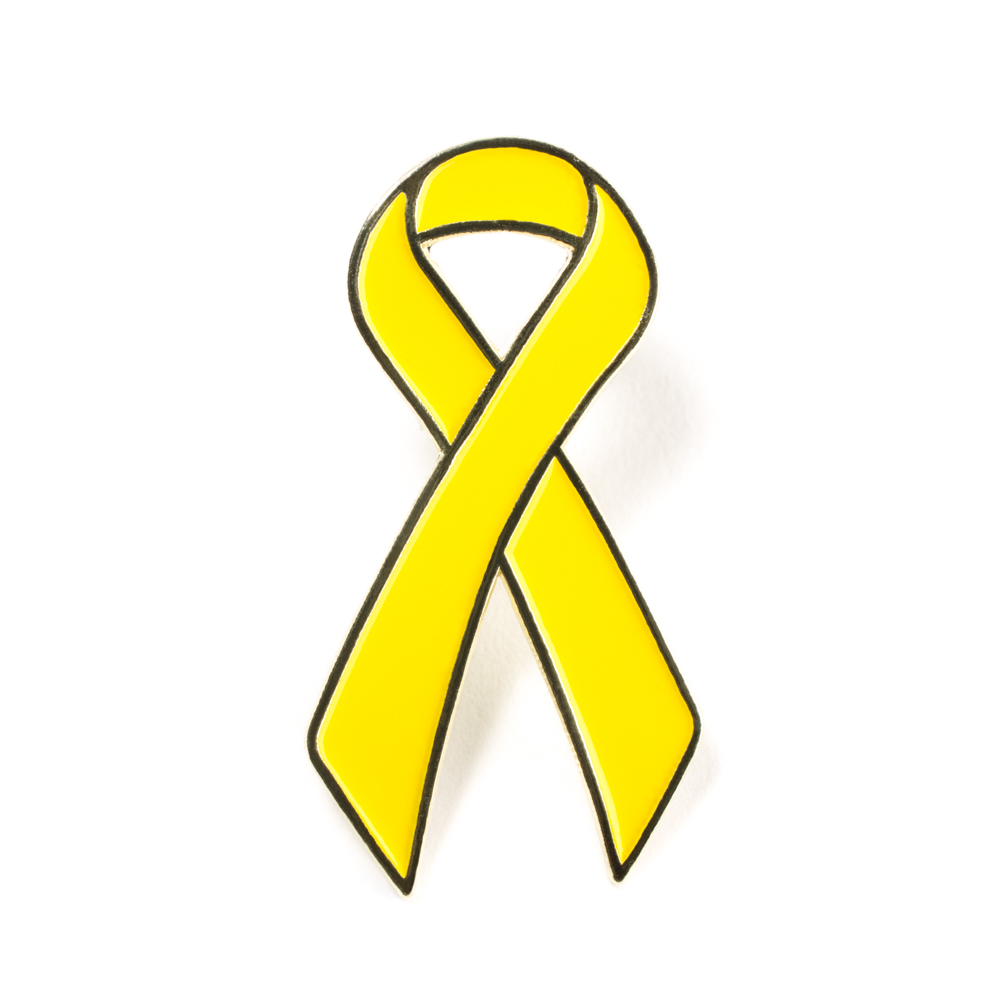 Childhood Cancer Awareness Pin Military Lapel Pin Ribbon Liver