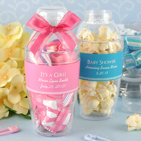 Best Baby Shower Party Favors: Personalized Cocktail Shaker Baby Shower Favors
