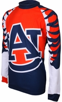 Auburn Tigers Long Sleeved Bike Jersey
