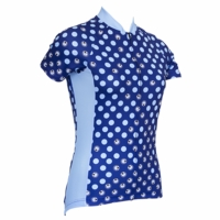 Blue Lady Bug Women's Cycling Jersey