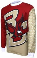 [DISCONTINUED] Boston College Eagles Long Sleeved Bike Jersey Free Shipping