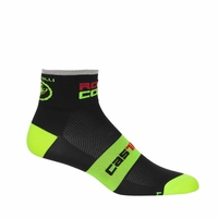 Castelli Rosso Corsa 6 Black/Neon Yellow Socks
