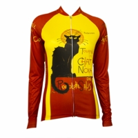 Chat Noir Women's Long Sleeve Cycling Jersey