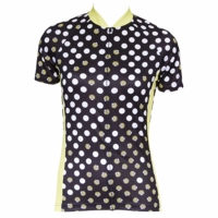 Lady Bug Black Women's Short Sleeve Cycling Jersey
