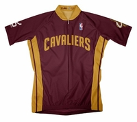 NBA Cleveland Cavaliers Men's Short Sleeve Away Cycling Jersey