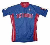 NBA Detroit Pistons Men's Short Sleeve Away Cycling Jersey