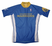 NBA Golden State Warriors Men's Short Sleeve Away Cycling Jersey