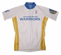 NBA Golden State Warriors Men's Short Sleeve Home Cycling Jersey