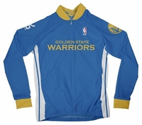 NBA Golden State Warriors Women's Long Sleeve Away Cycling Jersey