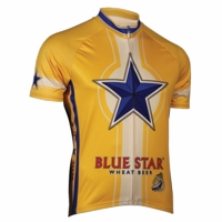North Coast Blue Star Men's Short Sleeve Cycling Jersey