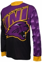 Northern Iowa Panthers Long Sleeved Bike Jersey